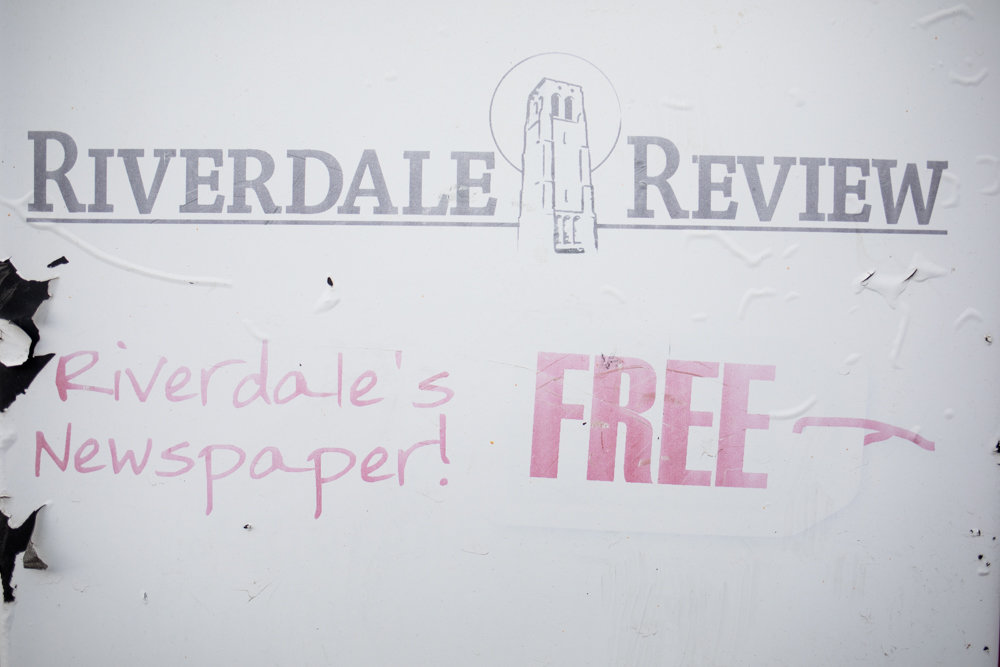 The Riverdale Review halted publishing last spring, said editor and publisher Andy Wolf, attributing the hiatus to unanticipated health concerns but claiming publication would resume in the near future. Empty news racks for the paper have been spotted in various locations throughout Riverdale.