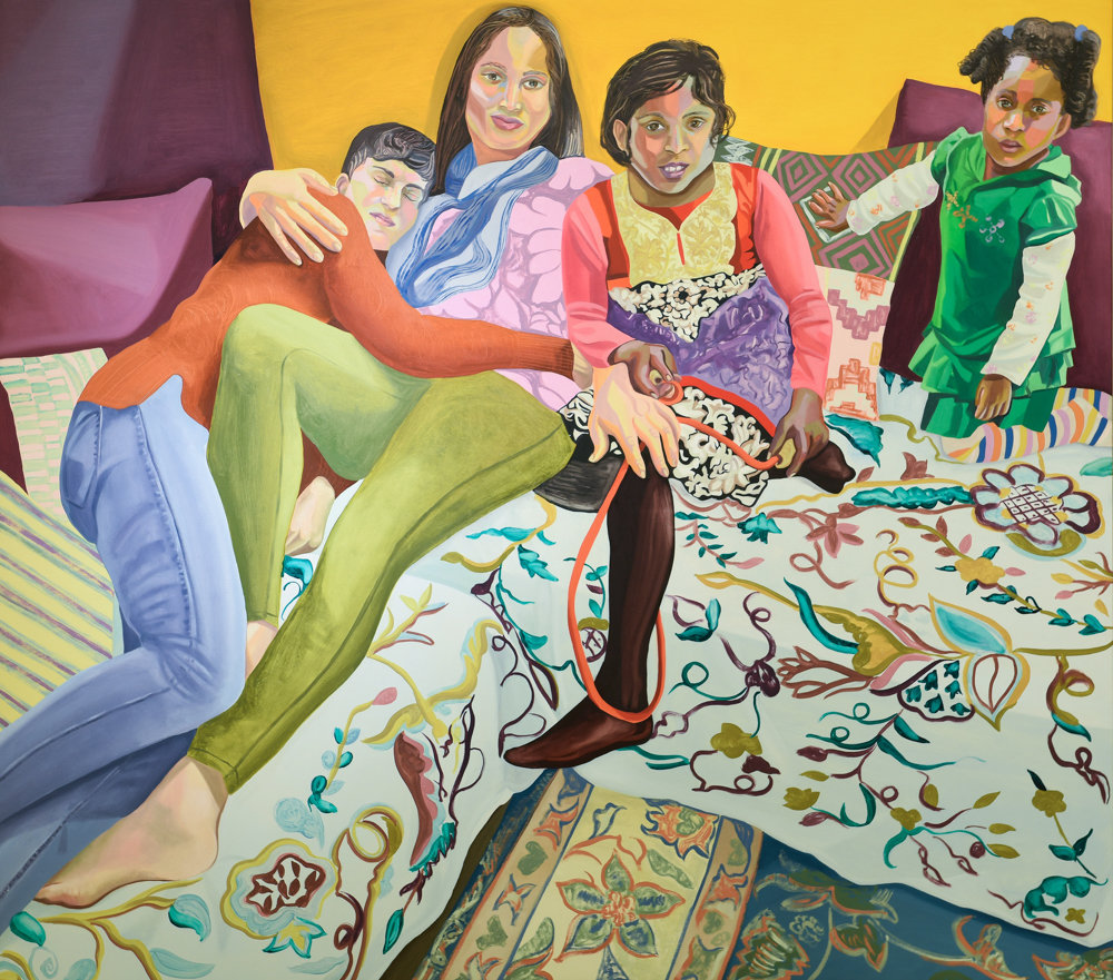 Aliza Nisenbaum's 2018 painting 'Sunday in Brooklyn' is part of a larger body of work that focuses on the immigrant experience of America. Nisenbaum is not only a painter but a professor at Columbia University.