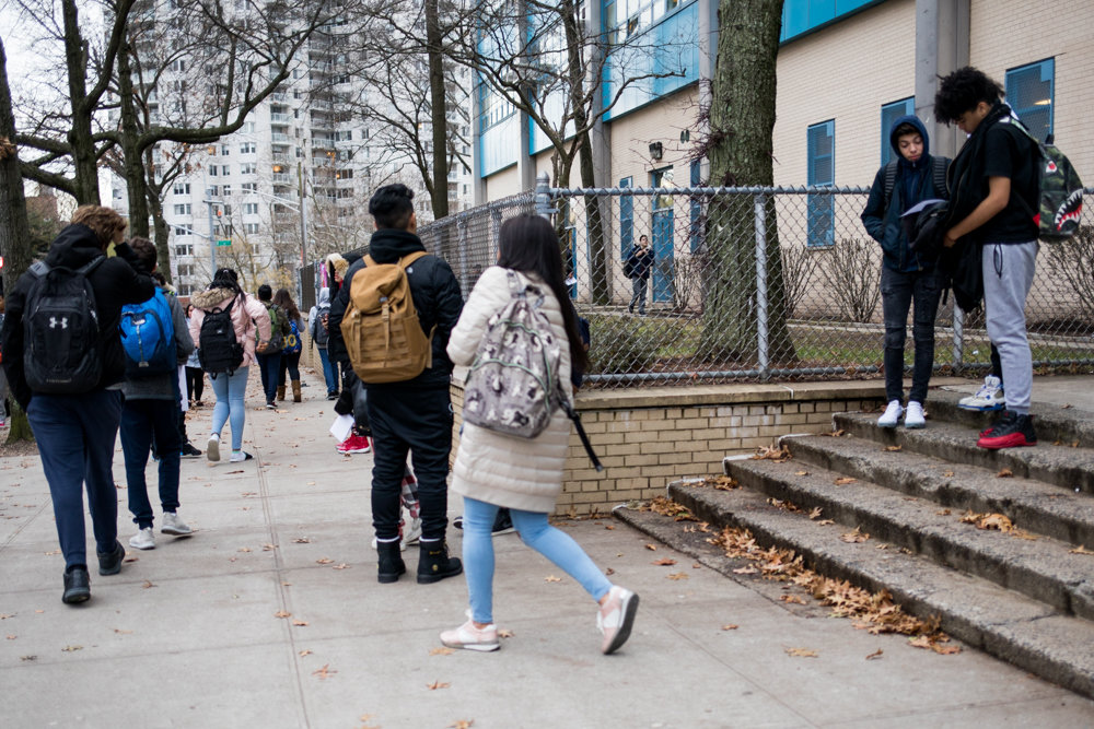After two students were discovered to have a gun on the campus of Riverdale/Kingsbridge Academy, the city's education department told parents it was implementing additional security measures at the West 237th Street school to help ensure student safety.