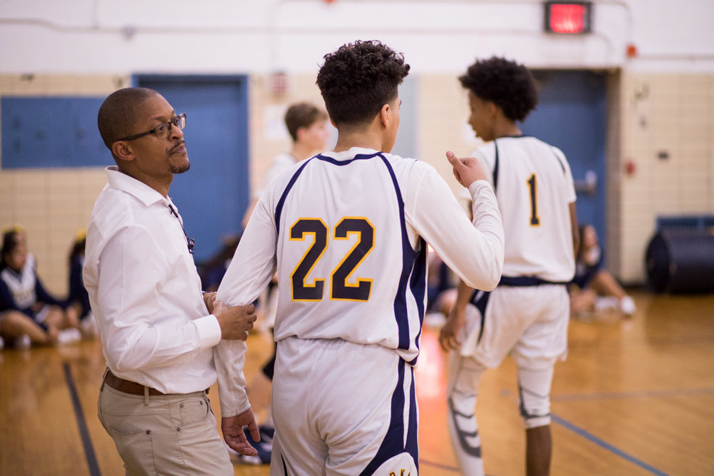 Courtney Bradshaw has the Riverdale/Kingsbridge Academy boys basketball team in the thick of the Bronx B-1 Division race in his first season as head coach.