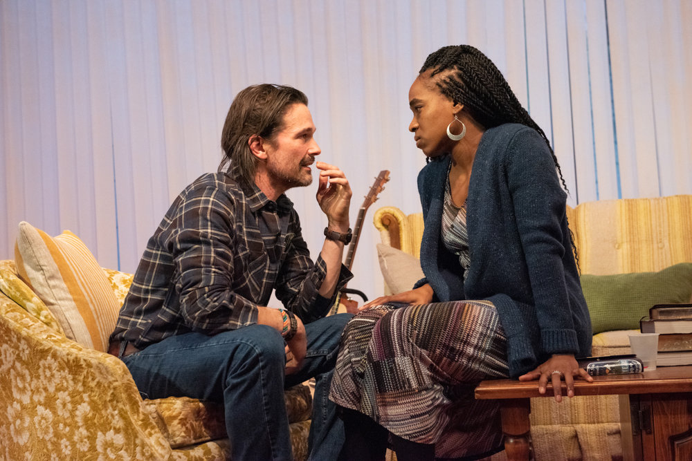 Chris Stack and Kristolyn Lloyd star in Atlantic Theater Company's 'Blue Ridge,' which opened Jan. 7 at Linda Gross Theater on West 20th Street.