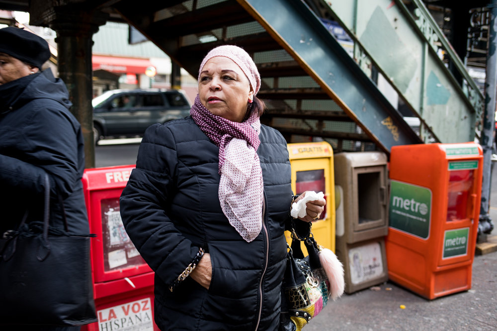 Maria Sanchez — who lives near West 231st Street and Bailey Avenue — believes LinkNYC kiosks would improve the look of what she described as some crumbling corners in Kingsbridge, plus provide technology that could help people get around and make it easier to communicate with each other. She'd welcome installation of the kiosks, even if it meant saying goodbye to some of the area's last pay phones.