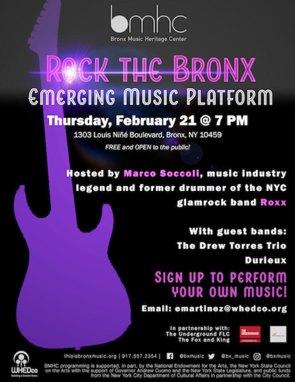 Rock the Bronx: Emerging Musician Platform   The Riverdale