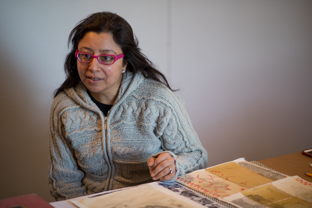 Nandini Chirimar talks about her drawing and work with Japanese woodblock prints that she has experimented with in Wave Hill's Winter Workspace program.