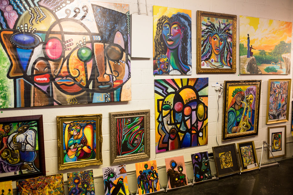 Kevin McDowell's art is strongly influenced by Cubism and African culture. An exhibition of his work is on display at Artizfacts Studio Gallery Hub on Sedgwick Avenue between Feb. 16 and Feb. 23.