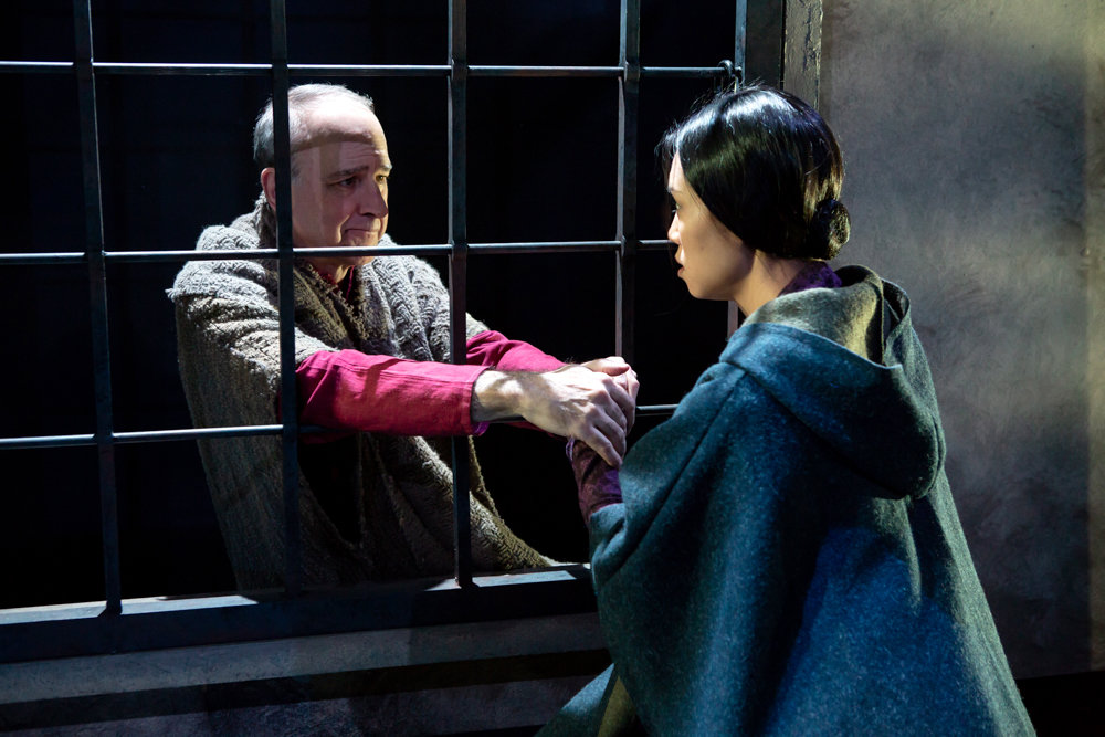 Michael Countryman plays Sir Thomas More in Robert Bolt's classic 'A Man For All Seasons,' along with Kim Wong, who plays his daughter. The play runs through March 3 at Acorn Theatre on Theatre Row.