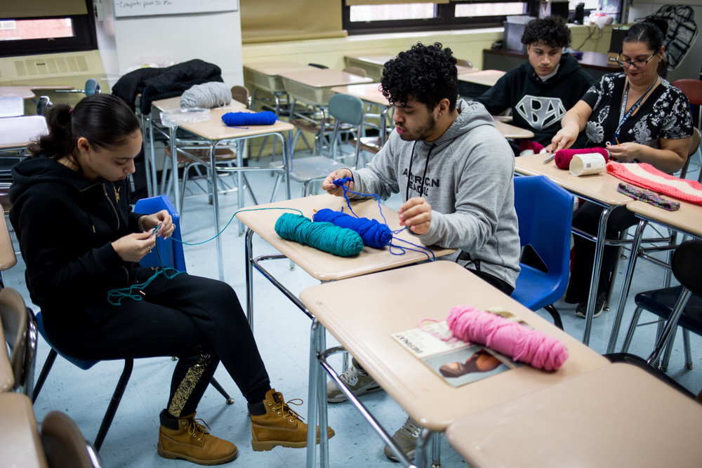 Lisa Rocco's crochet class at The Bronx School of Law and Finance proved to be so popular she started an after-school club for students who couldn't enroll in her JFK Campus class.
