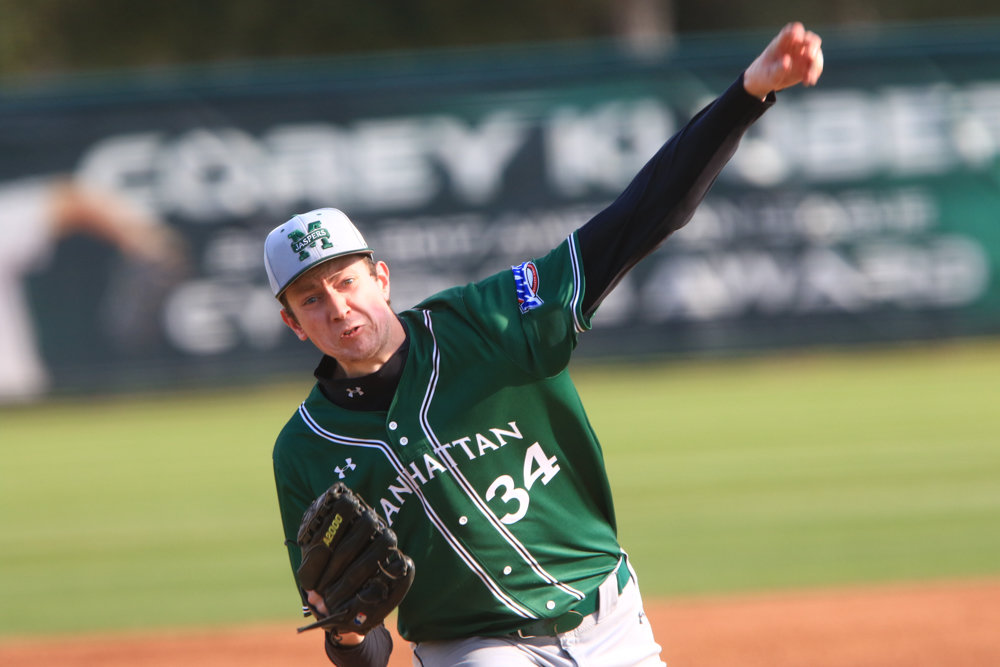 John Cain hasn't been at Manhattan all that long, but he already is making his mark with the Jaspers as he has posted two wins and an ERA under 2.00 so far this season.