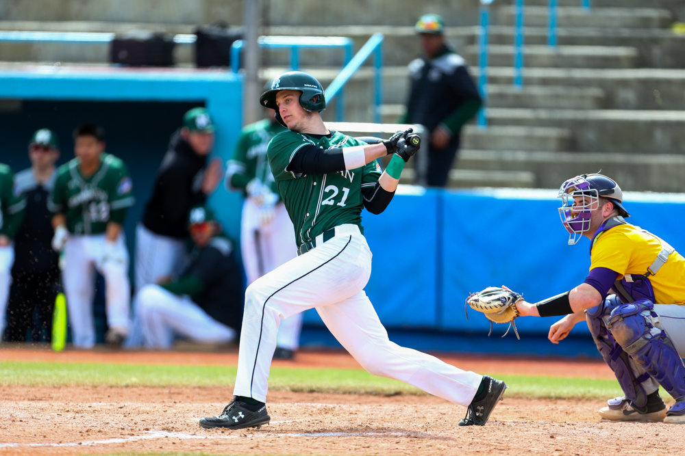Manhattan freshman right fielder Nick Cimillo is off to a solid start to his first college season, batting a team-best .338 with three homers for the Jaspers.