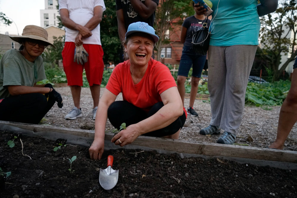 Volunteers work in Charles W. Cooke Farm Garden last year as part of Bronx Green-Up, an initiative by the New York Botanical Garden that is celebrating its 30th anniversary.