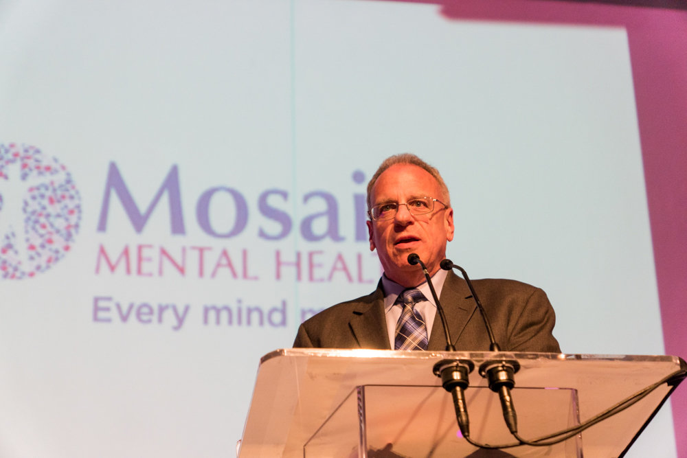 Assemblyman Jeffrey Dinowitz talks about the importance of mental health at a gala celebrating Mosaic Mental Health's rebranding in 2017. Dinowitz was an active part of negotiations for the newly passed state budget, and while he wasn't happy with everything included in the $175 billion package, he's satisfied with liking most of it.