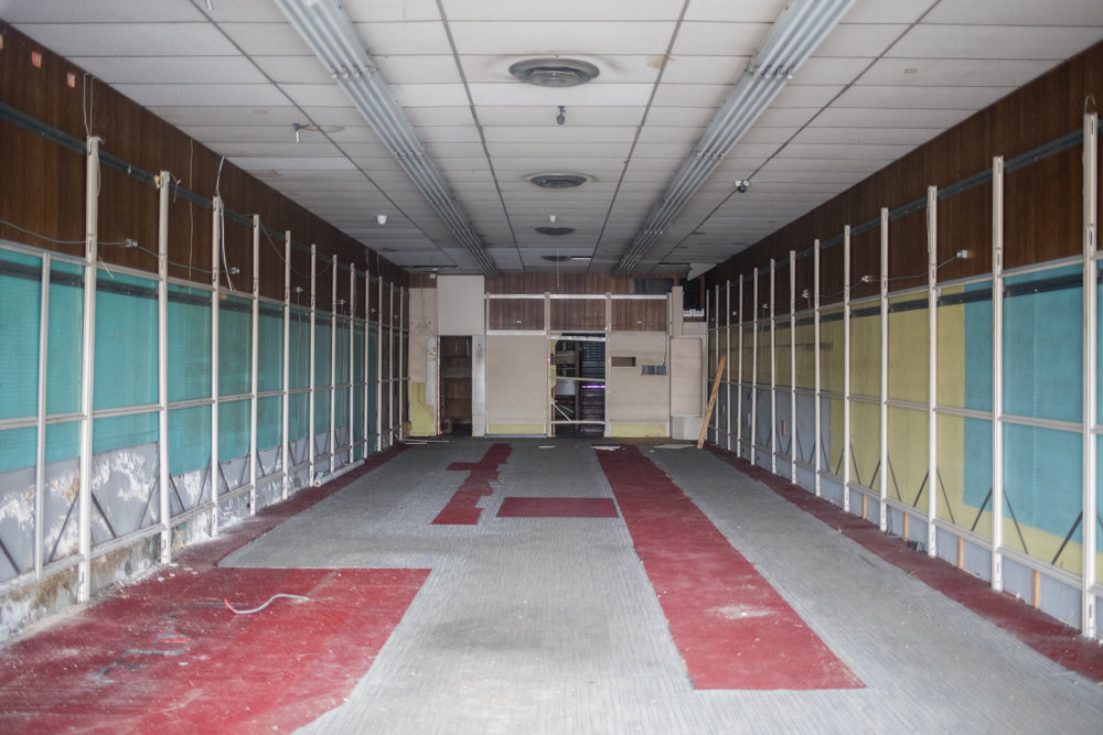 Since closing in March, Riverdale Stationery & Candy has been gutted, and the space is available for lease. The store was one of the last original holdovers from the opening of Skyview Shopping Center in 1963.