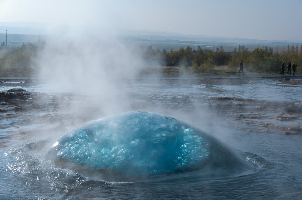 It's not a very common occurrence, but geysers can do some pretty interesting things, like this so-called 'blue-dome.'