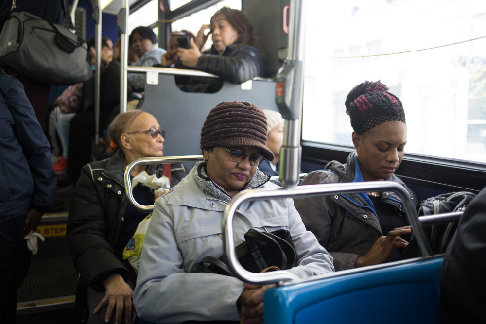 Commuters ride a Bx7 bus bound for North Riverdale. The MTA wants to tweak its bus service, possibly by changing routes or trimming stops. The agency held a workshop last year at Christ Church Riverdale where it sought public input on the state of the bus system and the changes they would look to see.