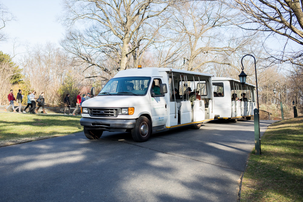 The New York Botanical Garden's tram approaches the end of its route, and could be at the end of its lifespan. The garden has proposed spending $1 million on a fleet of new trams funded through Bronx borough discretionary funds.