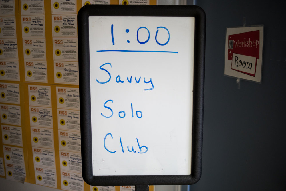 The Savvy Solos Club meets every other Wednesday at RSS-Riverdale Senior Services. The senior center recently convened the club to give members a forum to discuss quality of life issues affecting them, and to collaboratively figure out solutions.