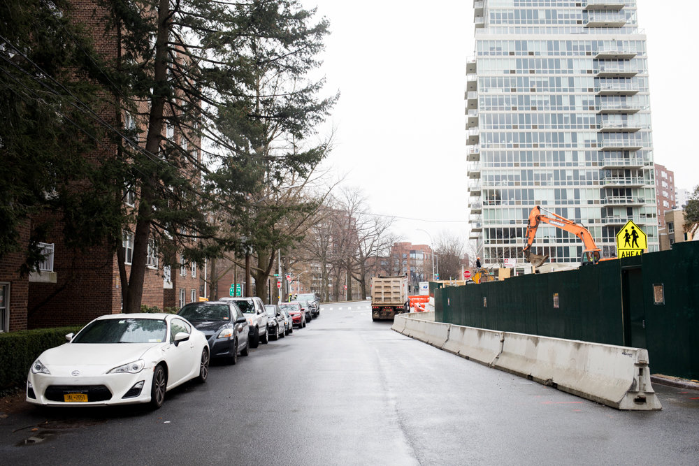 A good parking spot is hard to find on Blackstone Avenue near West 237th Street, especially now that a construction project has removed just about every adjacent parking spot. For Assemblyman Jeffrey Dinowitz, it points to a troubling trend of developers too easily snagging city approvals for such requests, often to the chagrin of neighbors.