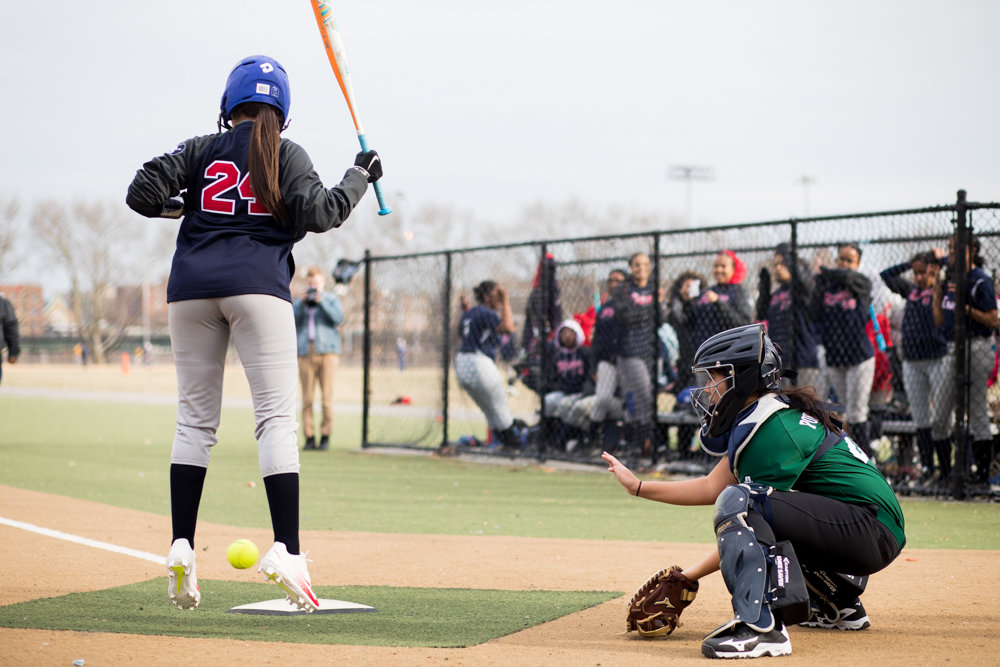 Bronx Science freshman catcher Samantha Pokorny saw her birthday marred by a 14-2 loss to Stevenson. But after the game, the Wolverines still helped her celebrate.