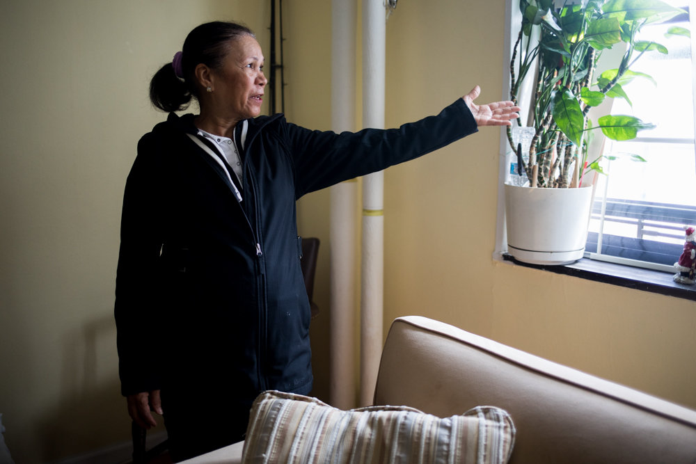 Evangelista Tronilo keeps her home in Marble Hill Houses immaculate, yet she's still worried about lead. Tronilo is grateful, though, Mayor Bill de Blasio is taking a bolder step toward dealing with the presence of lead in NYCHA buildings — something she worries about when her grandchildren visit.