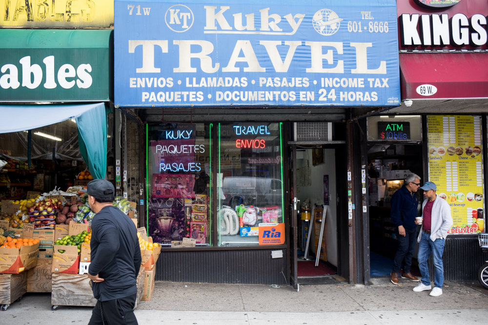 Felix Castillo has run Kuky Travel on West Kingsbridge Road for more than two decades. Certain technological advances have basically diminished his customer base, as young people now tend to rely on smartphone apps for some of the travel planning and money transfer services Kuky offers.