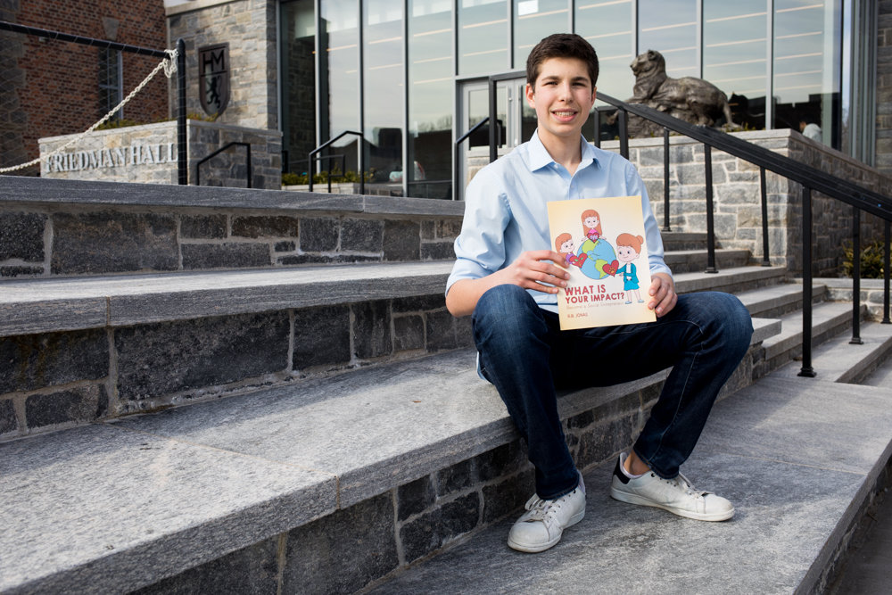 Horace Mann junior Ryan Jonas is the author of the children's book 'What Is Your Impact? Become a Social Entrepreneur,' which explores the idea of turning a profit while tackling tough issues like poverty. Jonas is an avid volunteer, and co-founder of the nonprofit Bronx Built.