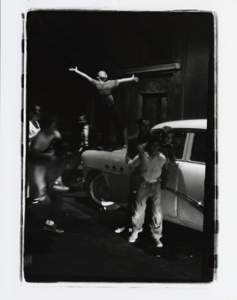 In 1958, Herb Snitzer photographed an euphoric street scene on West 71st Street in Manhattan. An exhibition of Snitzer's work, 'Can I Get a Witness,' is on display through Aug. 18 at the Hudson River Museum.
