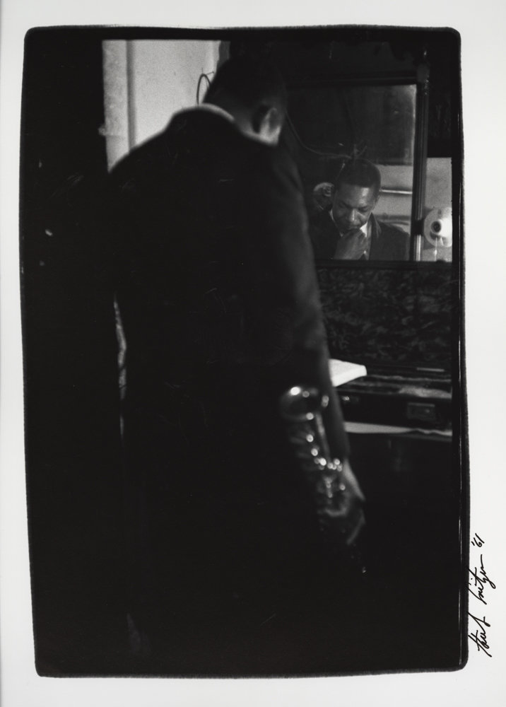 Herb Snitzer photographed jazz saxophonist John Coltrane in 1961, a picture now included in an exhibition of his work called 'Can I Get a Witness,' on display through Aug. 18 at the Hudson River Museum.