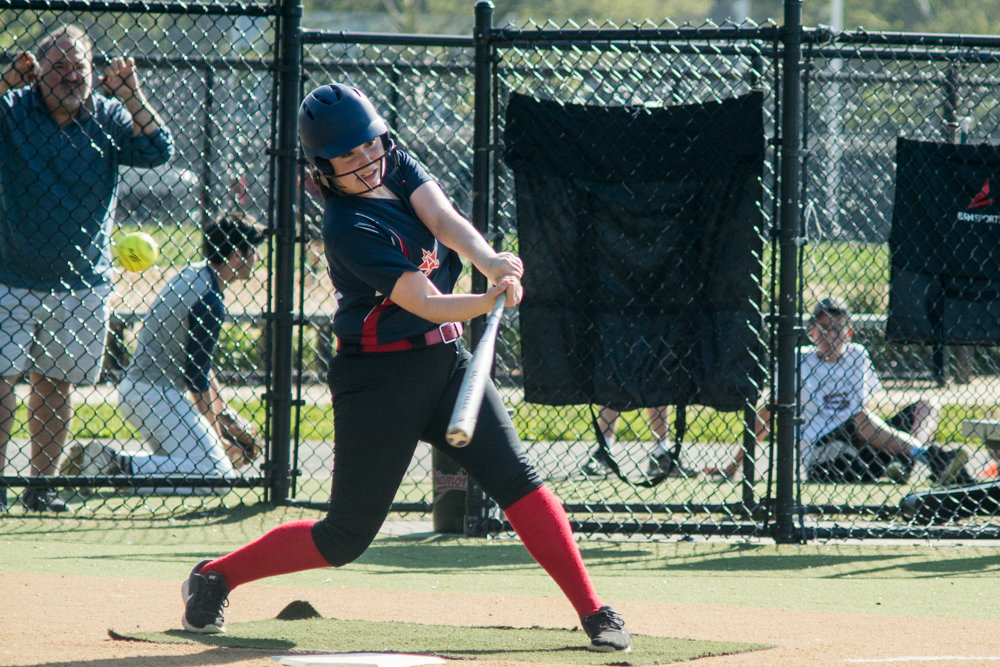 American Studies sophomore first baseman Sydney Borak had a strong season this year, but she and the rest of the Senators were shut down in their 7-1 quarterfinal loss to John Bowne.