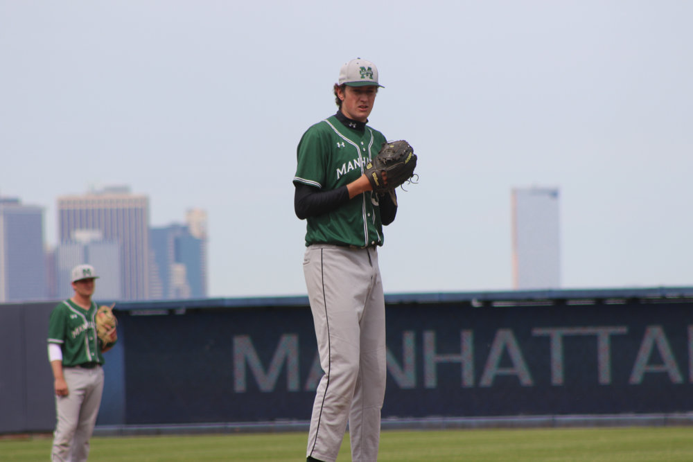 Manhattan's John Cain, the Jaspers' 6-foot-10 left-hander, is on Major League Baseball's radar after a stellar season with the Jaspers.