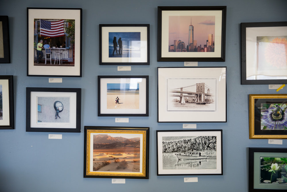 Photographs are among the art works on display at RSS-Riverdale Senior Services, an exhibition that marks the 40th anniversary of its gallery space.
