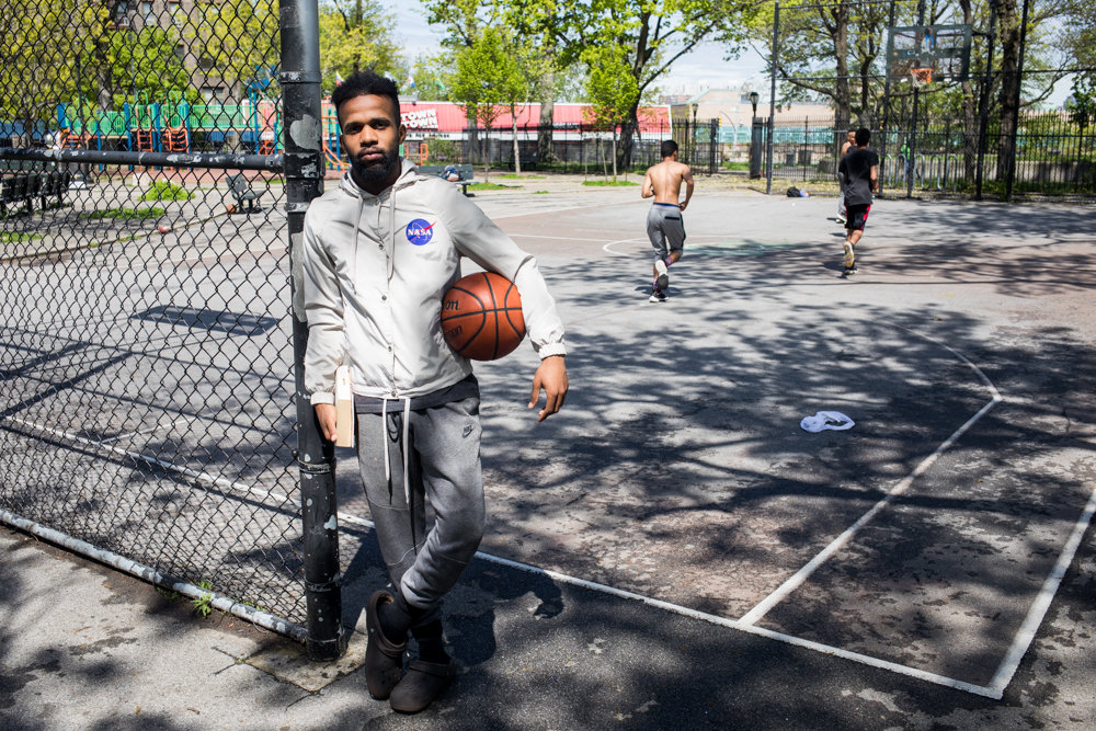 Joel Guerrero has plans to revitalize the basketball courts at Fort Four Park. A Kingsbridge Heights resident of 20 years, Guerrero has seen the highs and lows in his neighborhood, and regards the court as a kind of community center. He and his friends have raised more than $8,000 toward renovating the courts.