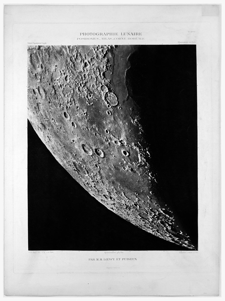 In the late 19th and early 20th centuries, the Paris Observatory — like other major observatories — regularly updated its collection of photographs of the moon's surface, like this image from 1898.