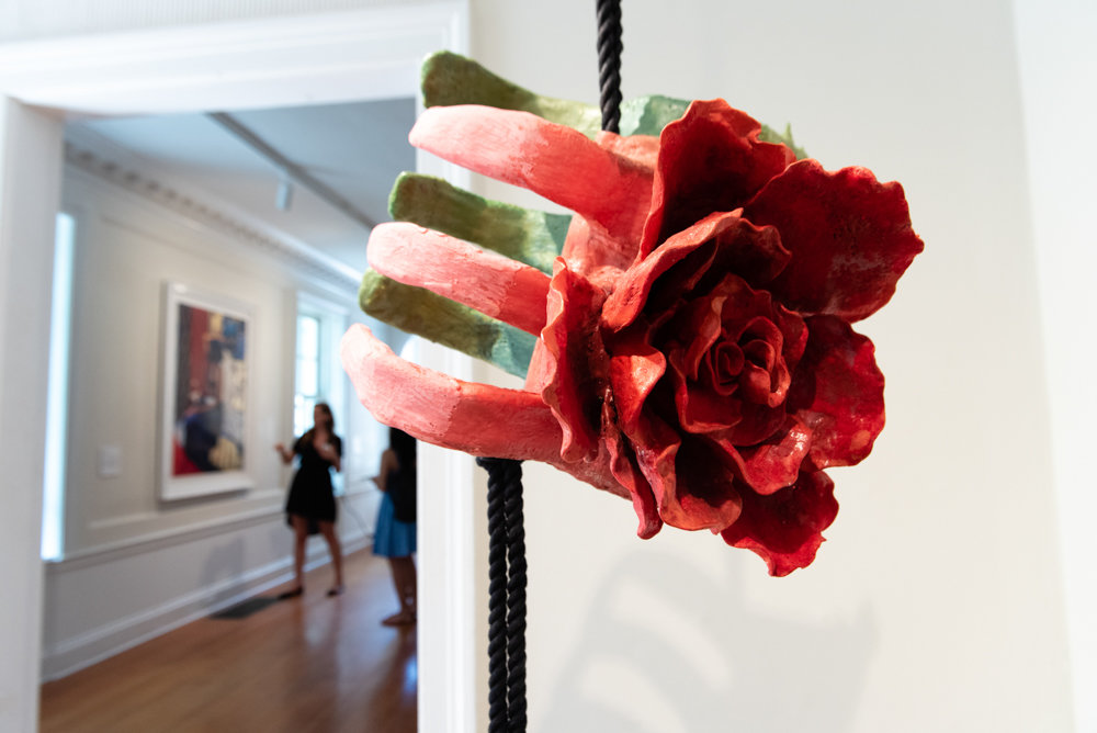 Diana Sofia Lozano's sculpture 'Sub Rosa,' a portion of which is shown here, is included in the exhibition 'Figuring the Floral,' on display at Wave Hill through Dec.1.