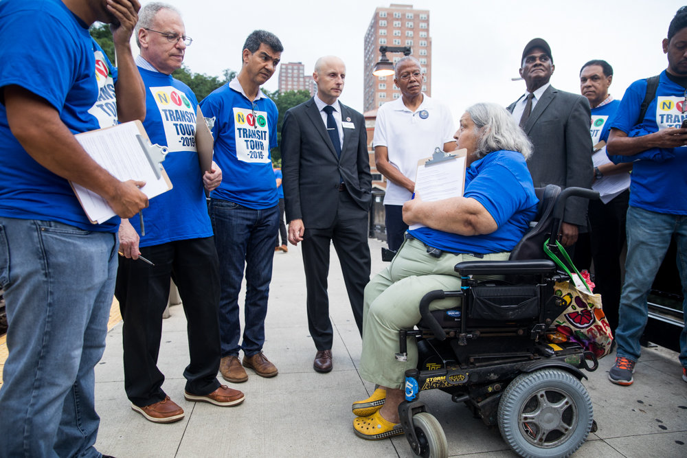 Disability rights advocate Edith Prentiss tells elected officials and New York City Transit Authority president Andy Byford what she think is necessary to make the subway system work for all New Yorkers.