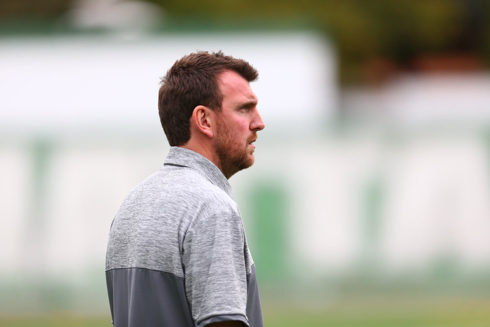 Manhattan men's soccer coach Jorden Scott has reason to smile this season with two preseason all-conference picks and a record-setting goalkeeper to lead the Jaspers.