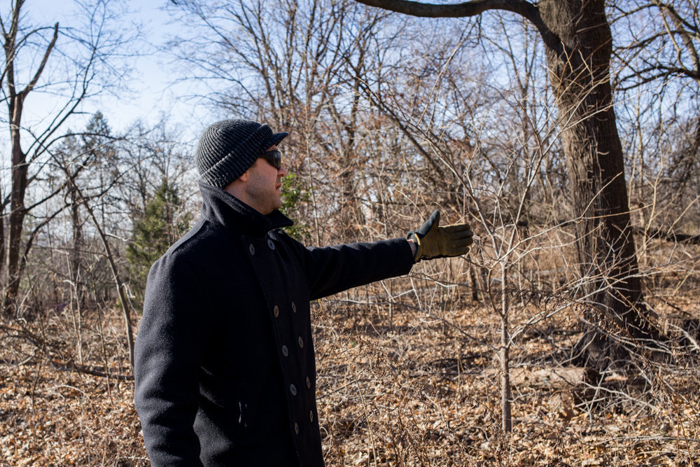 Nick Dembowski, president of the Kingsbridge Historical Society, talks in January about skeletons that were once found along the Putnam Trail, believed to have belonged to African American slaves. Soil scientists using ground-penetrating radar found what they believe is incontrovertible evidence that the remains of enslaved people are still buried under Van Cortlandt Park.