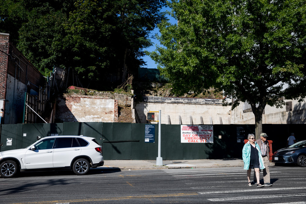 A vast green wall has graced the front of the empty lot at 3735 Riverdale Ave., which has been there now for six years.