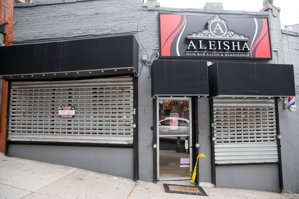 Aleisha Nailbar Salon & Barbershop was one of three businesses burglarized on West 238th Street near Bailey Avenue on Sept. 6.