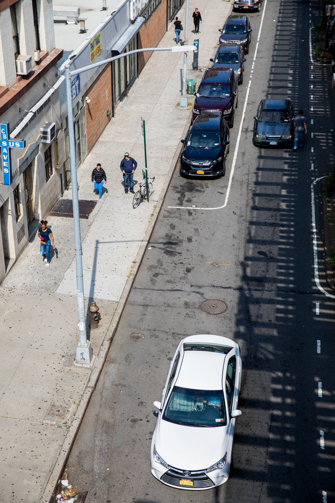 The city's transportation department has proposed adding a bus lane to the southbound side of Broadway between West 228th and West 225th streets The plan could ultimately rid that stretch of street parking.
