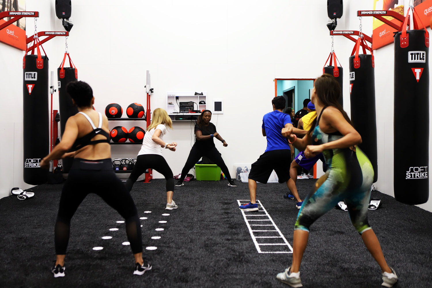 The Riverdale Y inaugurated its new Quest Training Studio with a series of classes, including one dedicated to kickboxing led by Aliette Leung. The space was previously home to The Y's racquetball court.