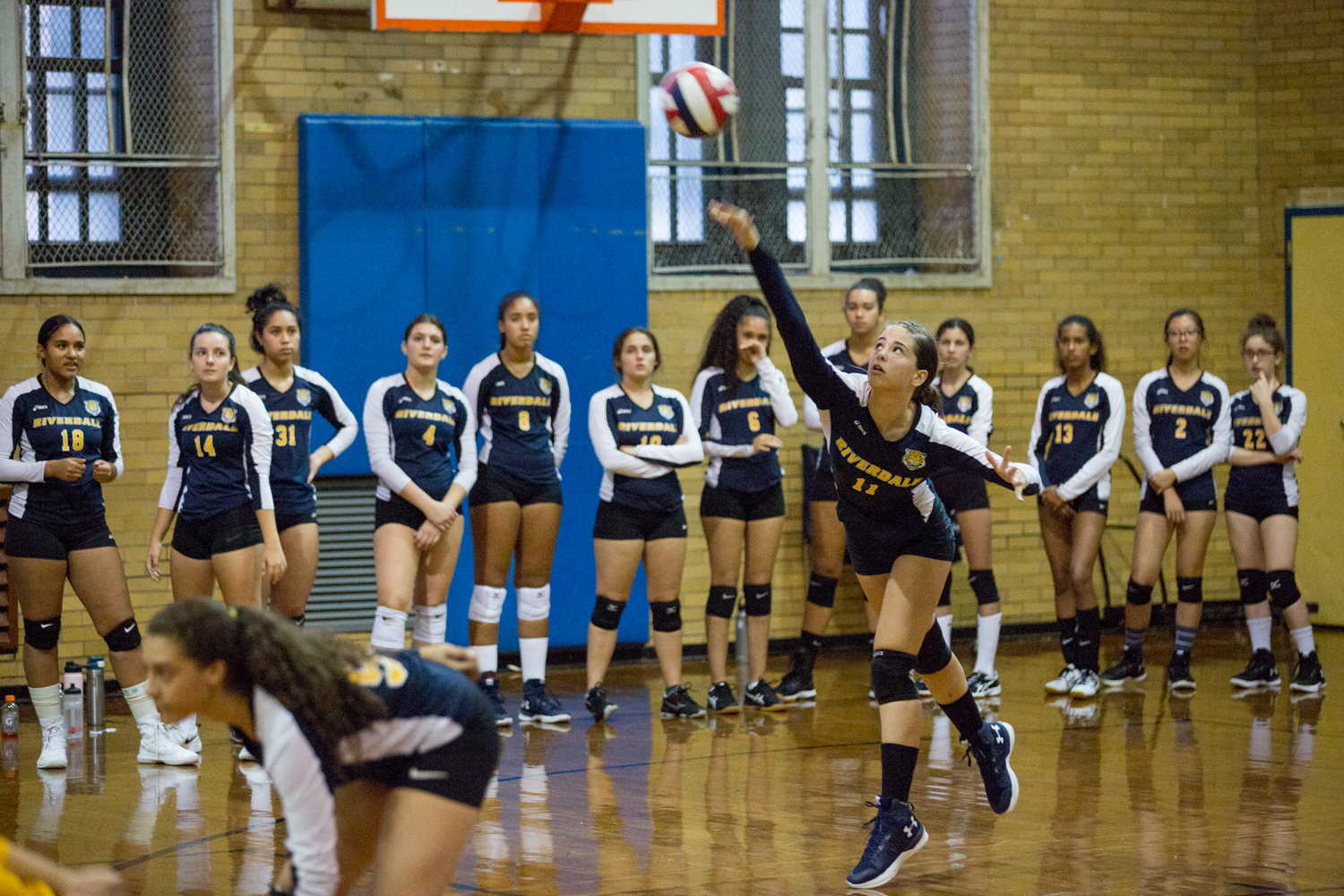 Riverdale/Kingsbridge Academy freshman Adelina Elezaj contributed six kills and an ace in the Lady Tigers 25-16, 25-4 victory over South Bronx last week.