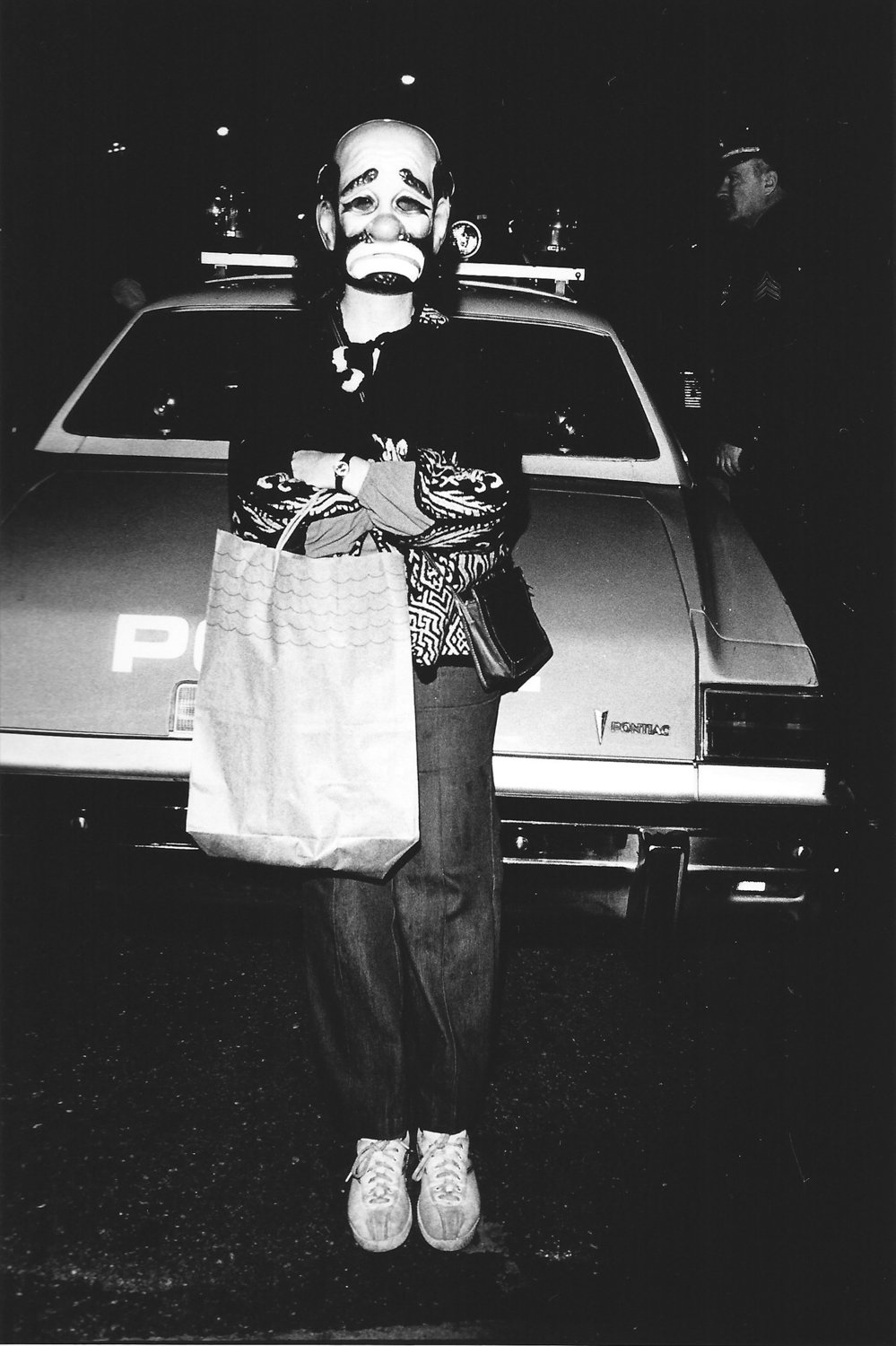 Arlene Gottfried's photograph of a masked city dweller during the Halloween parade in 1978 is included in 'After Dark,' a new exhibition of her work on display at Daniel Cooney Fine Art through Oct. 26.