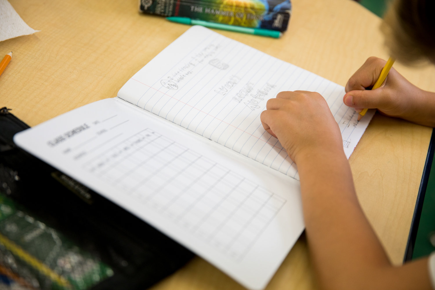 A student in a gifted and talented fifth grade class at P.S. 24 works on an assignment. Gifted and talented programs have come under the scrutiny of Mayor Bill de Blasio as he considers eliminating them because he feels they disproportionately discriminate against black and Latino students.