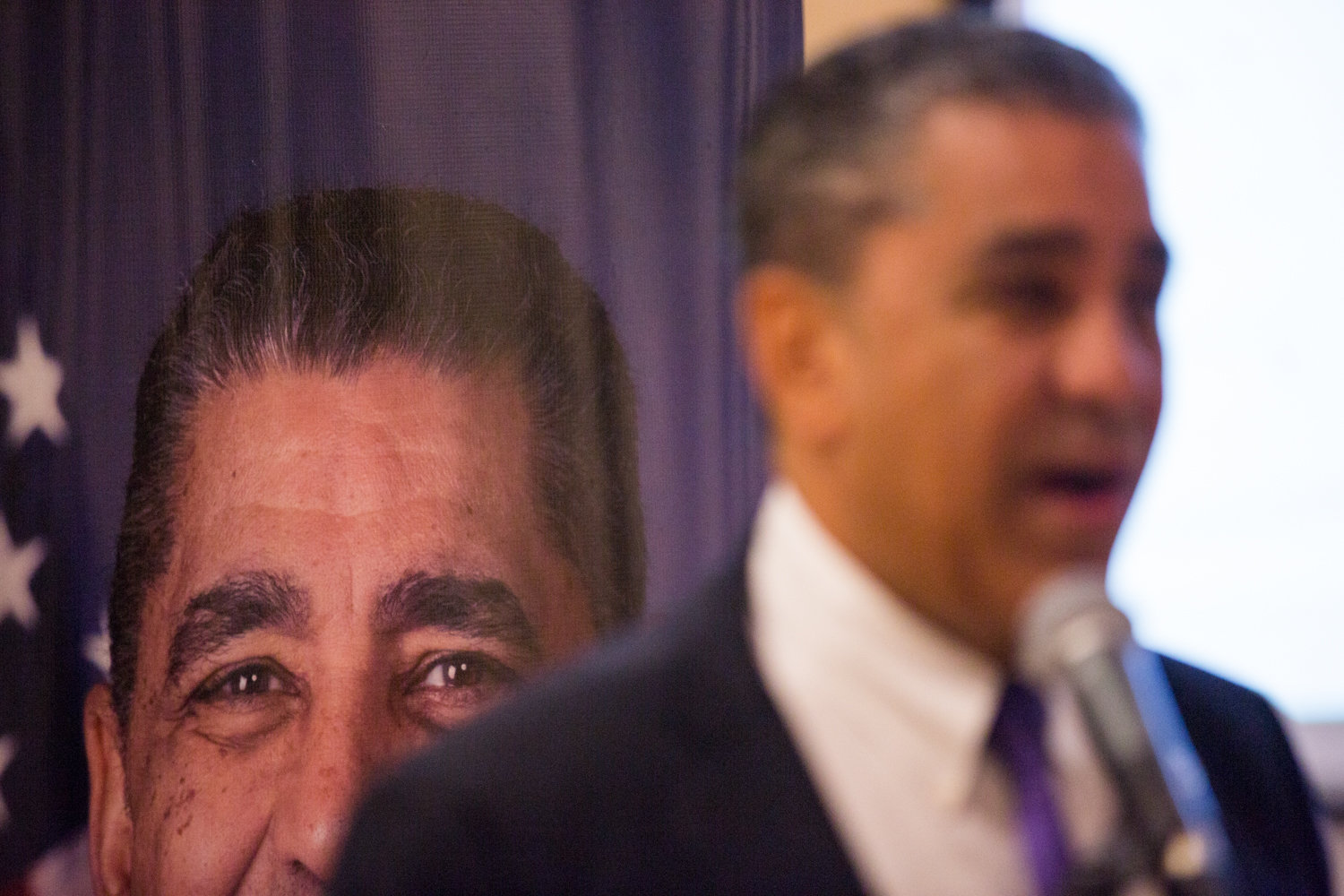 U.S. Rep. Adriano Espaillat explains how the impeachment process works during a forum at the Fort Washington Collegiate Church on Oct. 7. Espaillat is one of many congressional members supporting the impeachment inquiry into Donald Trump.