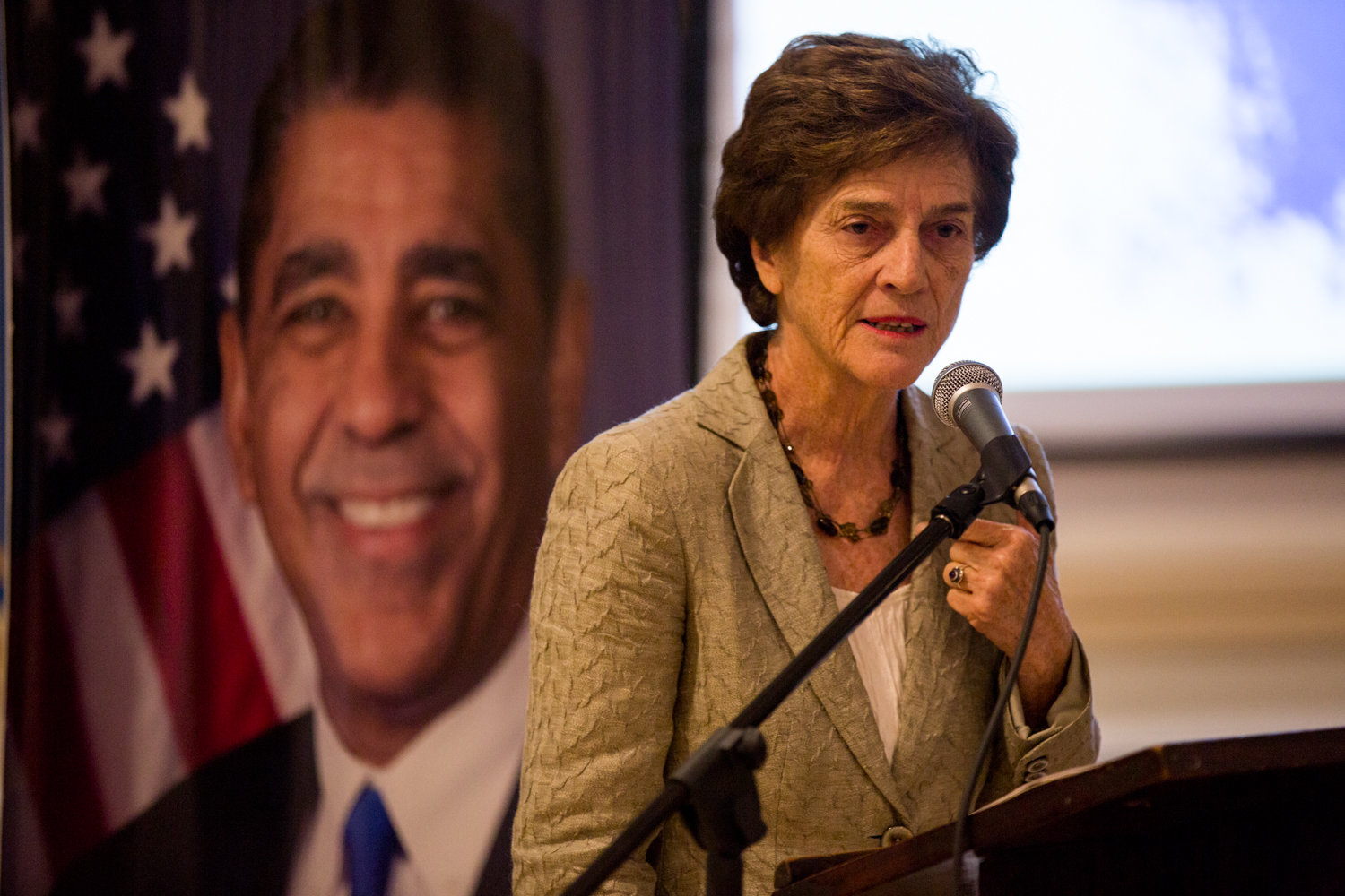 Former U.S. Rep. Elizabeth Holtzman sees a solid case for the impeachment of Donald Trump during a forum hosted in Washington Heights by U.S. Rep. Adriano Espaillat on Oct. 7.