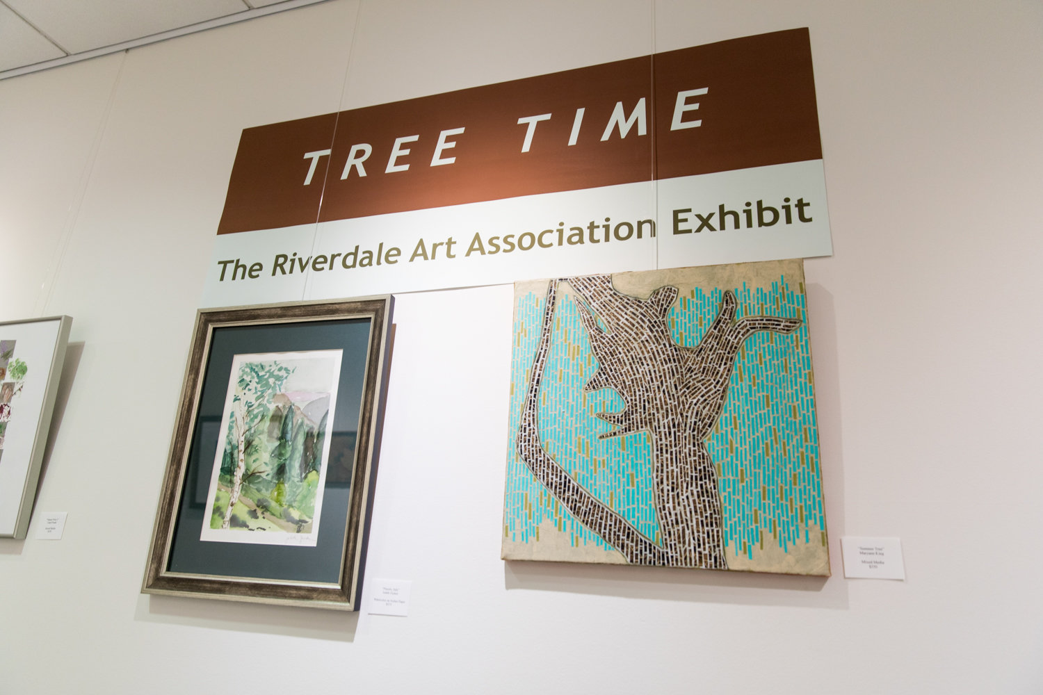 The Riverdale Y's new exhibition 'Tree Time' showcases tree-themed artworks by members of the Riverdale Art Association. It is on display through Nov. 3.