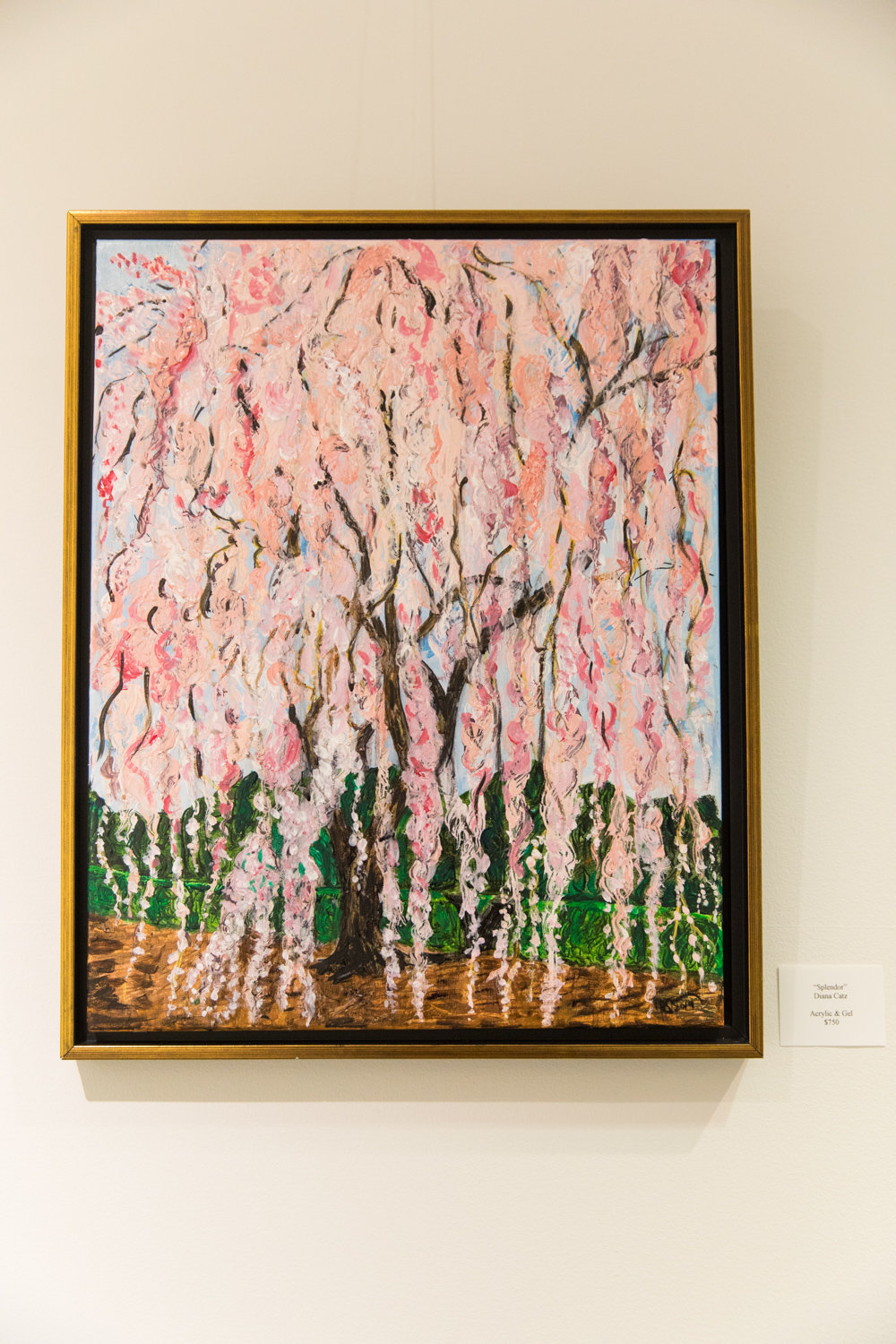 Diana Catz's painting 'Splendor' is included in the exhibition 'Tree Time,' on display at The Riverdale Y on Arlington Avenue through Nov. 3.