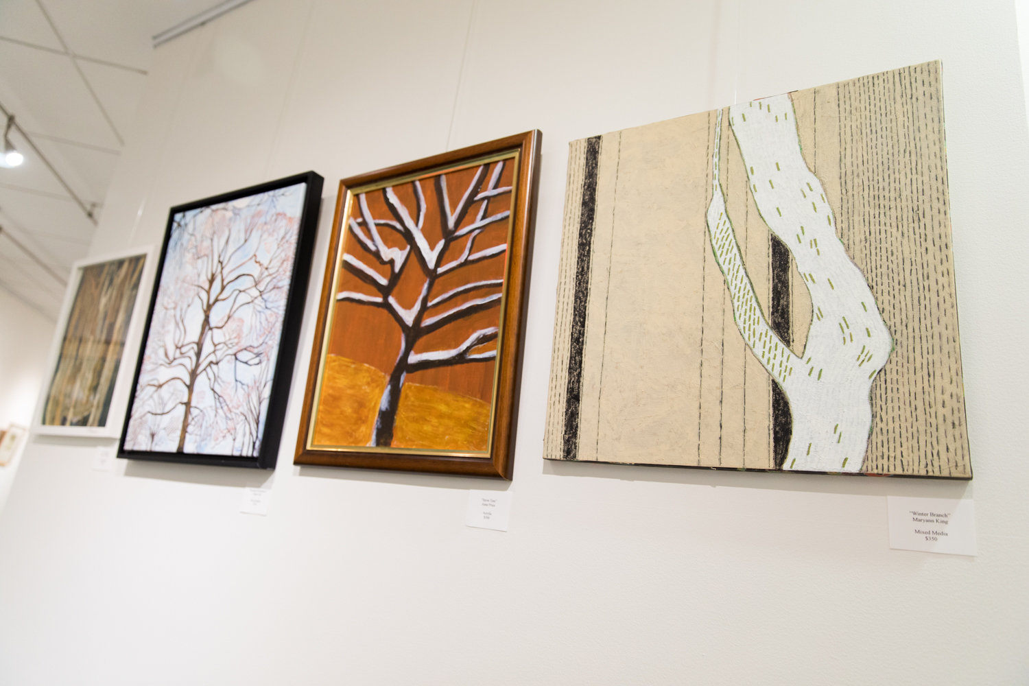 The Riverdale Y's Gallery 18 space went full arboreal with its latest exhibition 'Tree Time,' which is on display through Nov. 3.