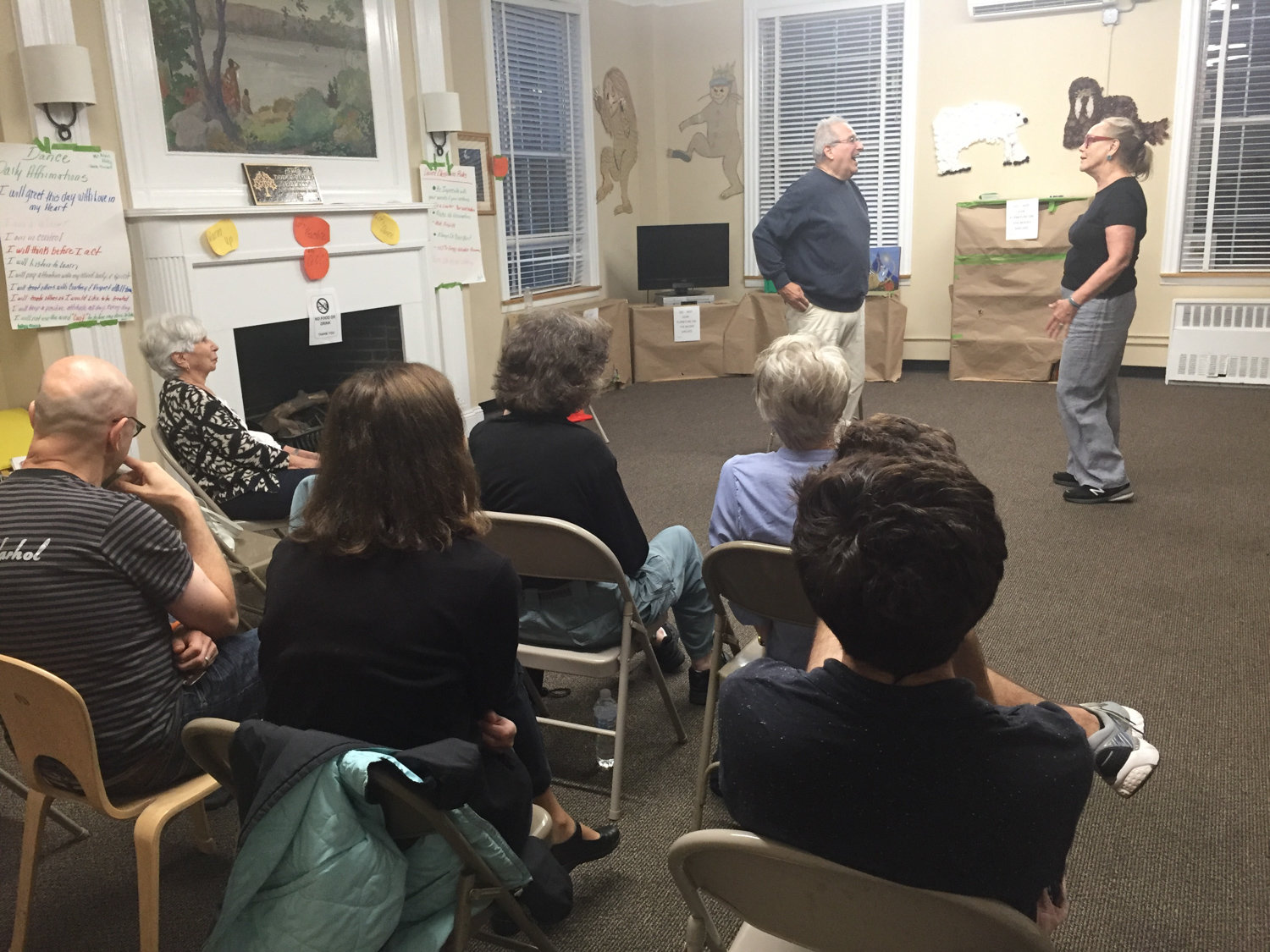 People looking to get their fix of acting and comedy created on the spot should find their way to Riverdale Neighborhood House on Mosholu Avenue, where an improv theatre workshop returns this week.