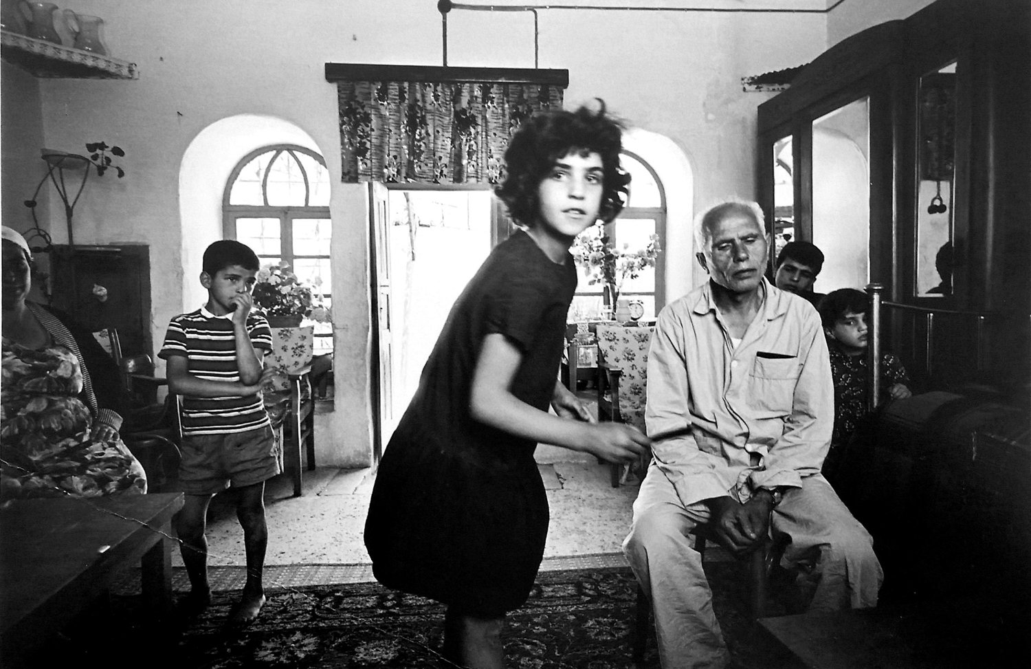Leonard Freed photographed an Arab family at home in the Old City in 1967.